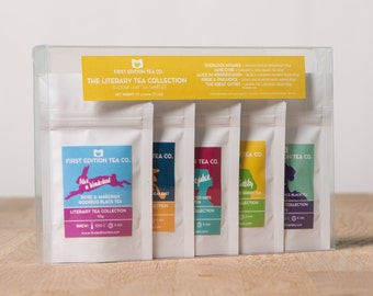 The Literary Collection Loose Leaf Tea - Tea Gift Set - Gift for book lover - 5 x 10g bags