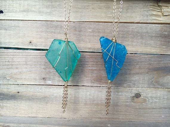 Tassel Necklaces - HandCrafted from Recycled Glass