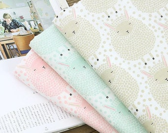 Lamb Pattern Double Cotton Gauze Fabric by Yard - 3 Colors Selection