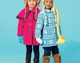 Children's/Girls' Coats, Hat, Scarf and Mittens McCall's Pattern M7276