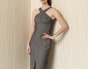 Vogue Sewing Pattern V1498 Misses' Criss-Cross Strap Dress