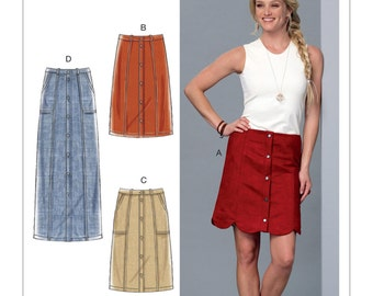 McCall's Sewing Pattern M7392 Misses' Straight or Scalloped-Hem, Gored Skirts