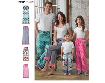 Simplicity Sewing Pattern 8179 Child's, Teens' and Adults Pants