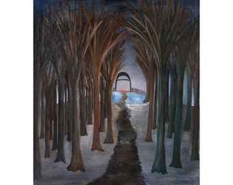Pathway | Print of original oil painting, with matte