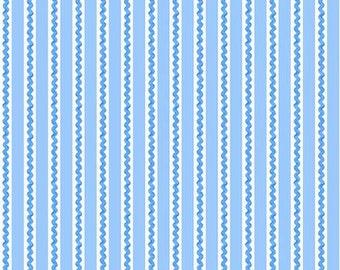 45'' Henry Glass & Co. Ric Rac Paddywack Blue Mini Ric Rac Flannel by the Yard 6464-101