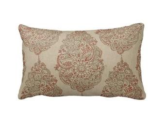Beige Pillow Cover Beige Lumbar Pillow Damask Pillows Beige Throw Pillow Cover Decorative Pillows for Couch Pillow Toss Pillow Accent Pillow