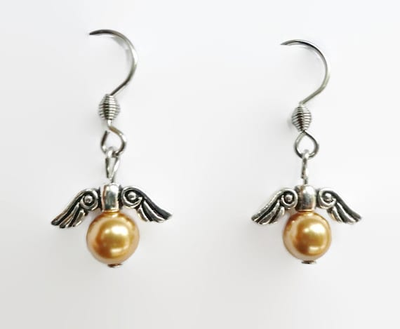 golden snitch earrings golden snitch wings earrings harry potter inspired 4385
