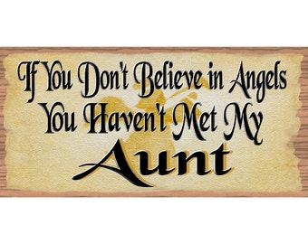 Aunt Wood Sign  Aunt Plaque - Wood Signs with Sayings - GS 1714