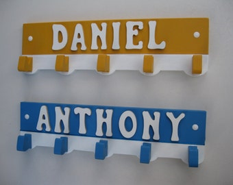 Coat Hanger Boy's Room Personalized with Name Many Color Choices