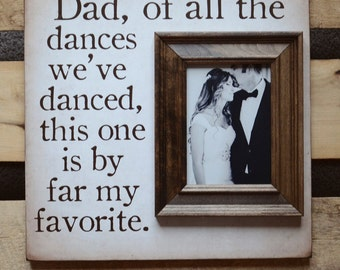 Father of the Bride Picture Frame Wedding Gift, Dad of all the walks We've Taken, Dad Parents Thank You Gift, 16x16