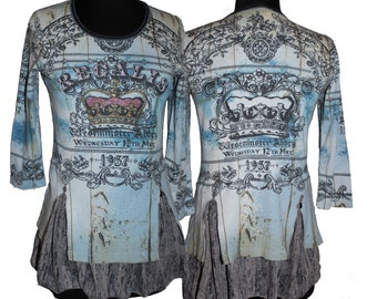 Knit Tunic (M) - Westminster Coronation- from our CARAUT-Altered collection of upcycled clothing
