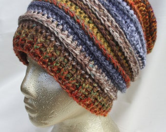 Crochet Beanie Slouch Dread Hat