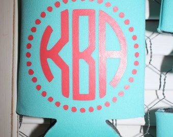 Personalized Can cooler~Birthday~Monogram Can Cooler- Beverage Insulator