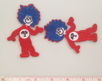 Thing 2 Iron on patch