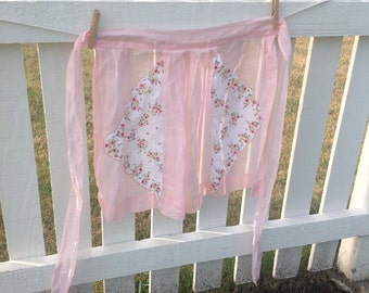 Pretty in Pink organza apron