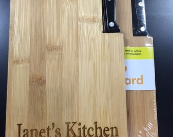 Personalized Bamboo Cutting Board - Your names and dates - Wedding, Birthday Special Gift