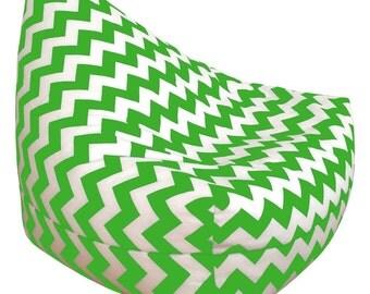Green Chevon Bean Bag Chair
