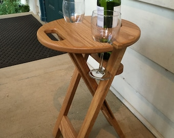 Folding Patio Wine & Beverage table - Made to order