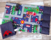 Toy Car mat, children's road play mat Large size, toy car play mat, travel kids play mat, fold up playmat, Activity play, on the go CE mark
