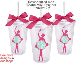 Dance Monogram Personalized Original Tumbler Cup,Monogram Gifts,Dance,Ballet,Dancer Gift,Ballet Gift,Personalized Gifts,Monogram Dancer