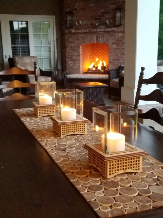 Tabletop Glass Fireplace This indoor/outdoor lantern can add