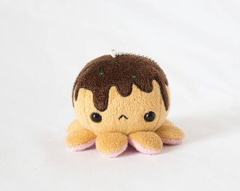 Meet Pon! Takoyaki Octopus keychain / plush たこ焼き 縫い包み キーチェーン