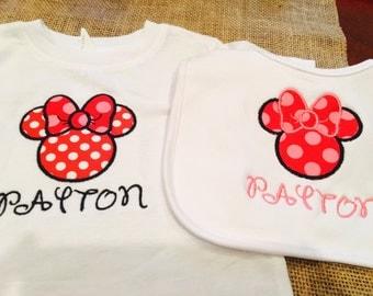 Disney shirt and bib set