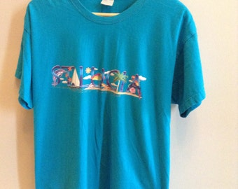 Vintage St Lucia tourist shirt - XL