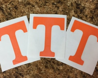 Tennessee ~ Power T~ UT ~ University of Tennessee~ State ~ Decal ~ Car Decal ~ Set of 3 Decals for 1 low price~OUTDOOR vinyl listing ~ SALE