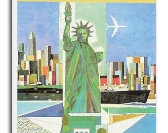 Retro Poster New York Travel Print Art Gift Hanging Wall Decor xr577