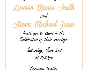 Classic Wedding Invitation Suite