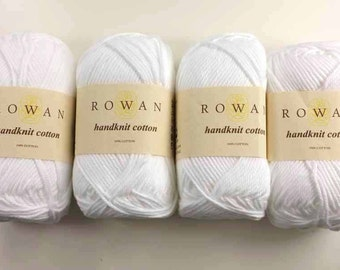 Rowan Handknit Cotton color Bleached 263, white, cotton yarn