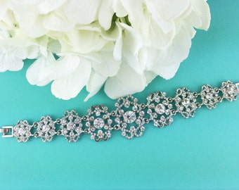 Rhinestone Crystal Bridal bracelet, wedding bracelet, rhinestone crystal bracelet, crystal bracelet, bridal jewelry, bracelet 253718106