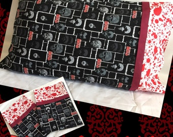 Walking Dead Pillowcases, Zombie Pillowcase, Zombie Bedding, Walking Dead Bedding, Blood Spatter Pillowcase, Blood Spatter Bedding