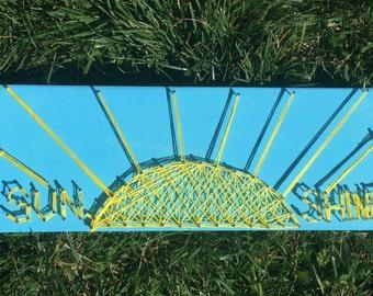 Sunshine Sun String Art