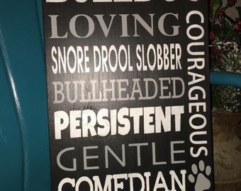 Bulldog subway art sign
