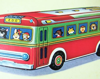 Vintage 60s children's board book - super cute illustrations -