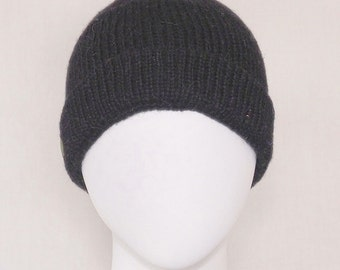 100 Percent Alpaca Brimmed Beanie, Lined, Large Mens Hat, Watch Cap, Skull Cap, Outdoor Sport Hat, Warm Winter Hat, Holiday Gift