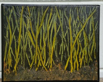 Kanapaha Bamboo 8 x 10 acrylic on canvas unframed
