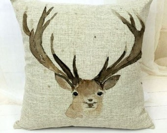 Watercolor Deer - PIllow Cover