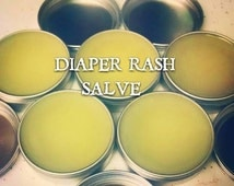 50% Off Diaper Rash Salve Calendula and Chamomile Salve All Natural Organic Infused Grape Seed Oil Antibacterial 3-6mos supply