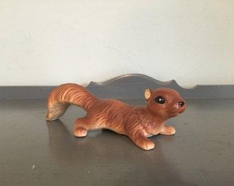 Ceramic Squirrel Figurine, Made in Japan