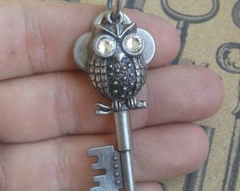 Owl Key necklace
