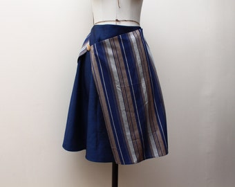 Downloadable sewing pattern- Faux-Wrap Assymetric Skirt.size S (38)-M (40).A4 tiling