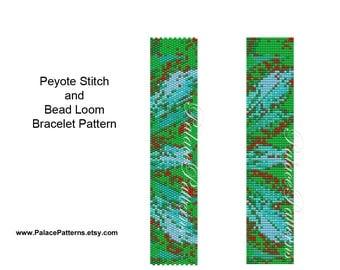 Bracelet Pattern for Bead Loom or Peyote Stitch  - PP31 - Loom and Peyote Stitch Beading Pattern