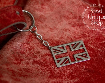 Union Jack Flag Stainless steel Keychain
