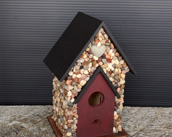 Stone Birdhouse / Indoor Decor / River Rock