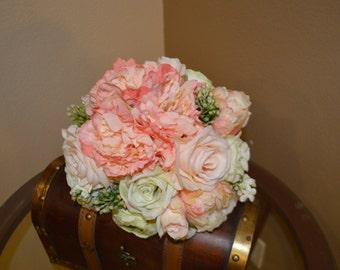 Bridal Bouquet, Brides Bouquet, Wedding Bouquet, Wedding Flowers, Wedding Decor, Brides Bouquets,  Coral Bouquet, Garden Bouquet
