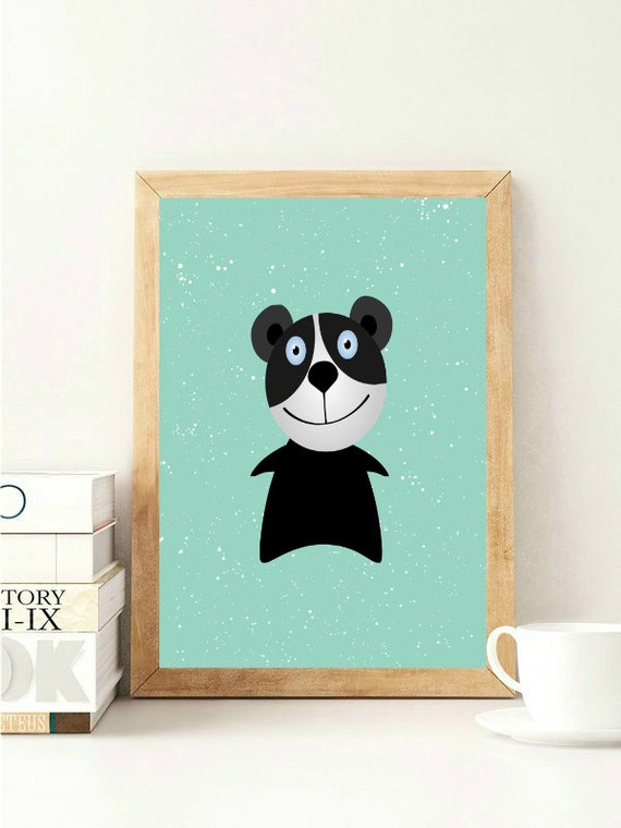 Items similar to panda bear print panda nursery print for Panda bear decor