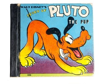VF Walt Disney Story of Pluto the Pup 1938 Whitman